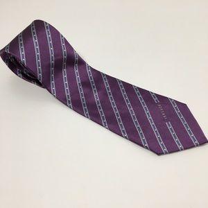Versace Purple Silk Tie